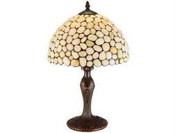 Meyda Tiffany Jasper Opal Beige Table Lamp