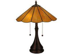 Meyda Tiffany Panel Honey Amber Table Lamp