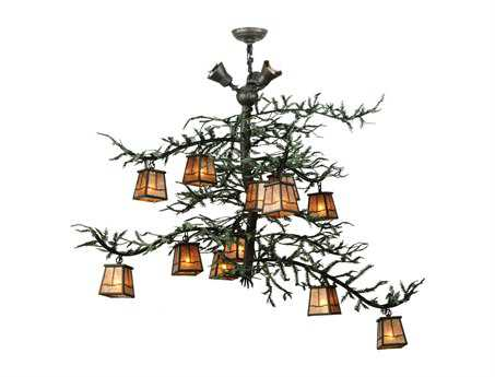 Meyda Tiffany Pine Branch Valley View 15-Light 48 Wide Grand Chandelier