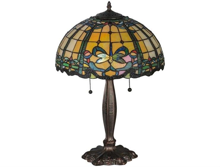 Meyda Tiffany Dragonfly Blue Amp Green Table Lamp My138585