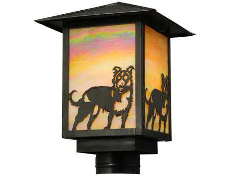 Meyda Tiffany Seneca Dog Bai Custom Hinkley Outdoor Post Mount Light