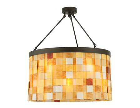 Meyda Tiffany Cilindro Calico 12-Light Semi-Flush Mount Light