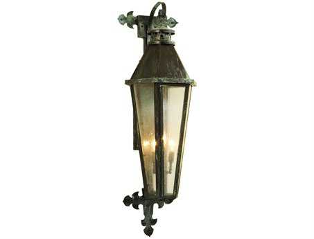 Meyda Tiffany Millesime Three-Light Lantern Outdoor Wall Light