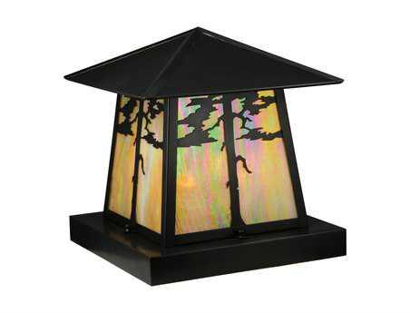Meyda Tiffany Stillwater Tamarack Craftsman Brown Four-Light Outdoor Pier Mount Light