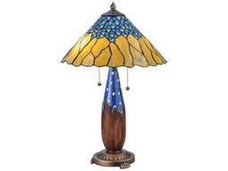 Meyda Tiffany Cristal Azul Multi-Color Table Lamp