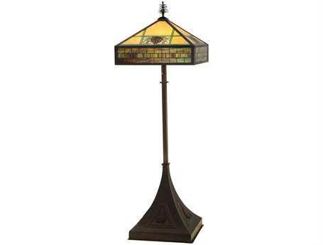 Meyda Tiffany Pinecone Ridge Multi-Color Floor Lamp