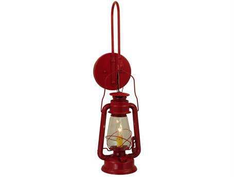 Meyda Tiffany Miners Lantern Red Outdoor Wall Light