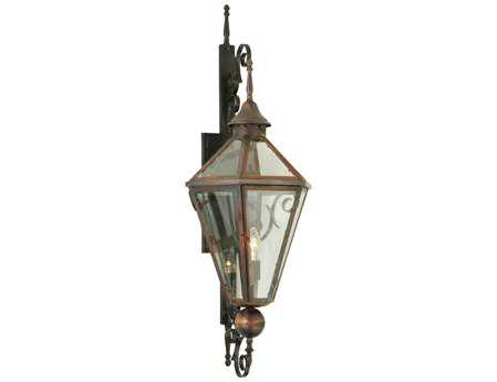 Meyda Tiffany Millesime Clear Lantern Outdoor Wall Light