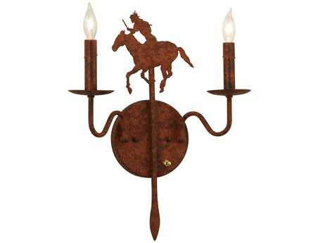 Meyda Tiffany Indian Two-Light Wall Sconce