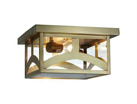 Meyda Tiffany Hyde Park Two-Light Hill Top Outdoor Ceiling Light