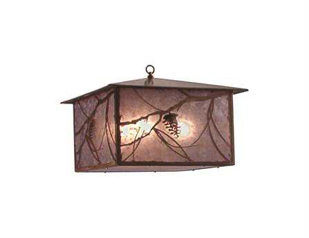 Meyda Tiffany Whispering Pines Four-Light Outdoor Hanging Light