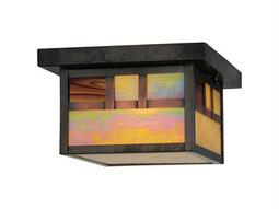 Meyda Tiffany Hyde Park Double Bar Mission Outdoor Ceiling Light
