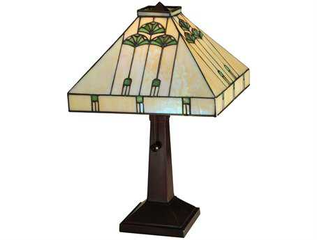 Meyda Tiffany Ginkgo Multi-Color Table Lamp