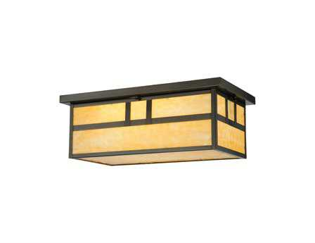 Meyda Tiffany Hyde Park Double Bar Mission Oblong Two-Light Outdoor Ceiling Light