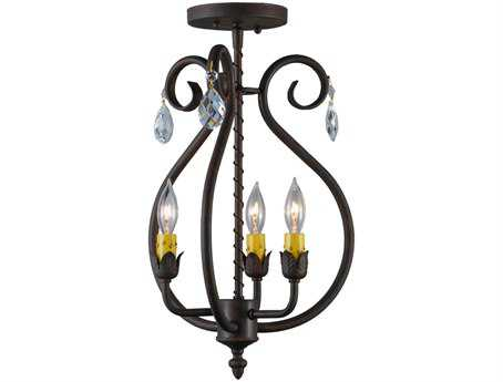 Meyda Tiffany Antonia Three-Light 12 Wide Crystals Mini Chandelier
