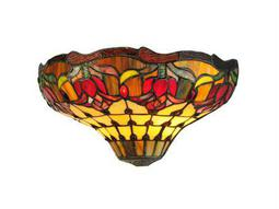 Meyda Tiffany Colonial Tulip Two-Light Wall Sconce