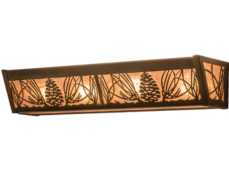 Meyda Tiffany Mountain Pine Four-Light Vanity Light