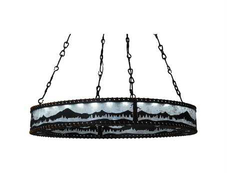 Meyda Tiffany Mountains & Trees Ring 36-Light 42 Wide Grand Chandelier