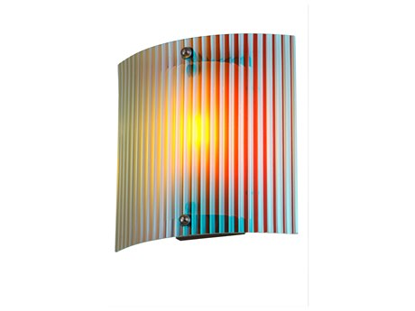 Meyda Tiffany Metro Fusion Fire & Ice Glass Wall Sconce