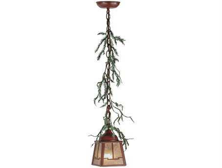 Meyda Tiffany Pine Branch Valley View LED Mini-Pendant