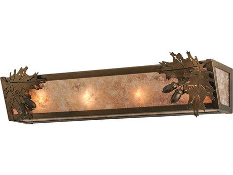 Meyda Tiffany Oak Leaf Four-Light Vanity Light