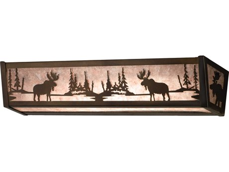 Meyda Tiffany Moose At Lake Four-Light Vanity Light