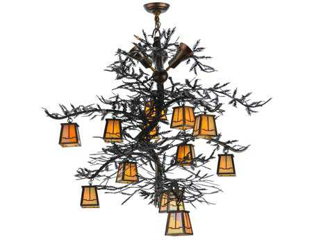 Meyda Tiffany Pine Branch Valley View 15-Light 52 Wide Grand Chandelier