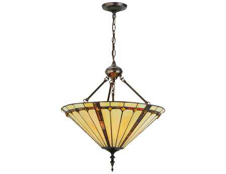 Meyda Tiffany Belvidere Inverted Three-Light Pendant