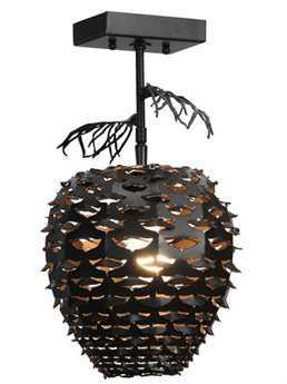 Meyda Tiffany Stoneycreek Pinecone Semi-Flush Mount Light