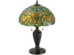 Meyda Tiffany Scroll & Jewel Multi-Color Table Lamp