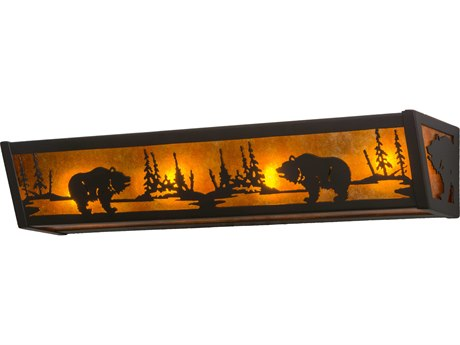 Meyda Tiffany Grizzly Four-Light Vanity Light