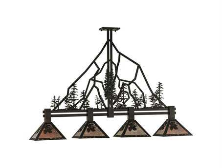 Meyda Tiffany Tall Pines Four-Light Island Light