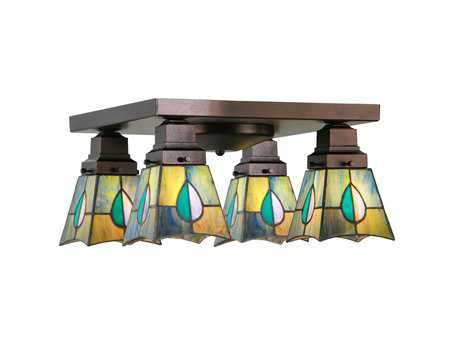 Meyda Tiffany Alcove Four-Light Flush Mount Light