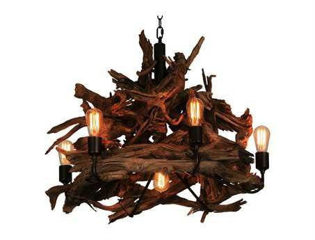 Meyda Tiffany Driftwood Seven-Light 30 Wide Chandelier