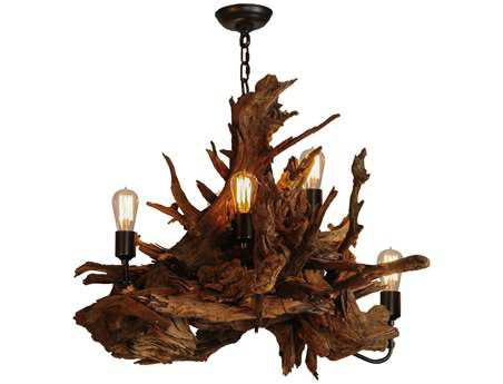 Meyda Tiffany Driftwood Five-Light 30 Wide Grand Chandelier