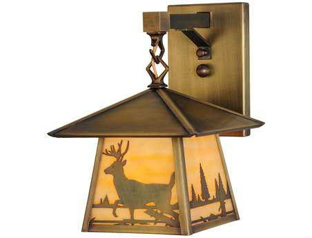 Meyda Tiffany Stillwater Deer Creek Hanging Outdoor Wall Light