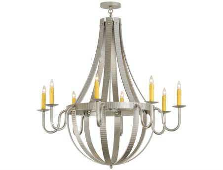 Meyda Tiffany Barrel Stave Metallo Eight-Light 48 Wide Grand Chandelier