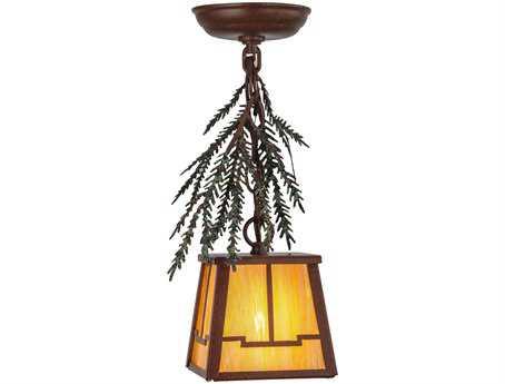 Meyda Tiffany Pine Branch Valley View Mini-Pendant