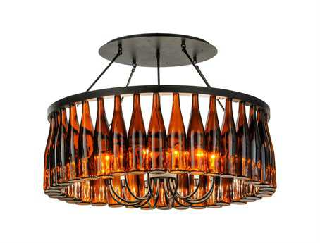 Meyda Tiffany Tuscan Vineyard Estate 36 Wine Bottle 12-Light 38 Wide Chandelier