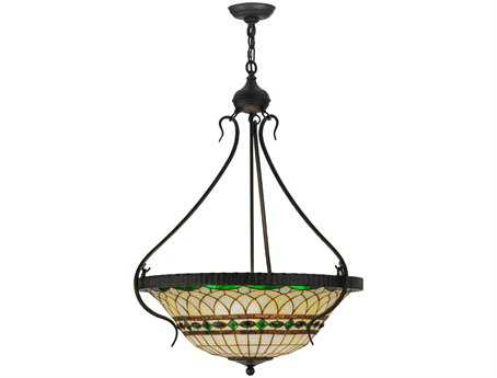 Meyda Tiffany Roman Inverted Four-Light Pendant