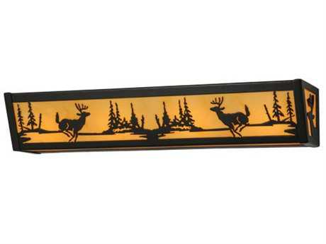 Meyda Tiffany Deer At Lake Four-Light Vanity Light