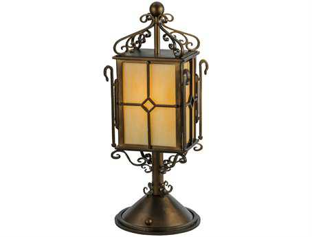 Meyda Tiffany Standford Yellow Lantern Table Lamp