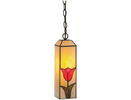 Meyda Tiffany Iris 5'' Wide Mini Pendant Light