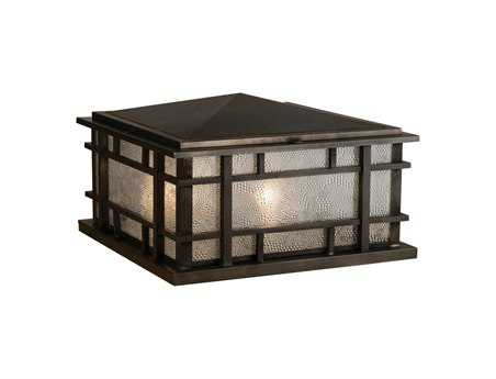 Meyda Tiffany Rochester Zard Craftsman Four-Light Outdoor Pier Mount Light