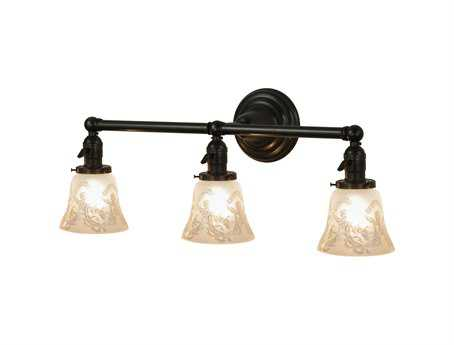 Meyda Tiffany Wreath & Garland Revival Three-Light Vanity Light