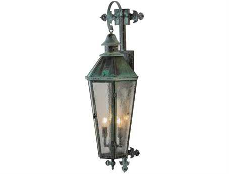 Meyda Tiffany Millesime Lantern Three-Light Outdoor Wall Light