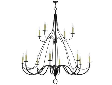 Meyda Tiffany Bell 2 Tier 12-Light 68 Wide LED Grand Chandelier