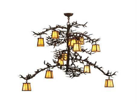 Meyda Tiffany Pine Branch Valley View 12-Light Grand Chandelier