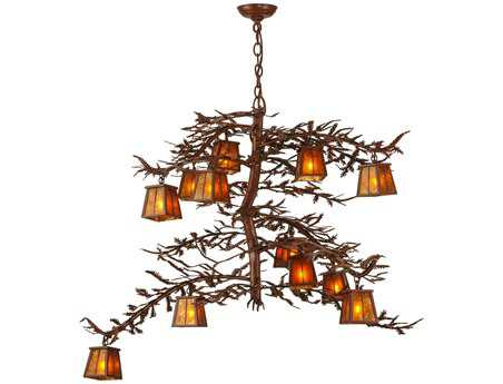 Meyda Tiffany Pine Branch 12-Light 48 Wide Grand Chandelier