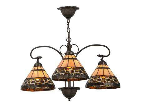 Meyda Tiffany Ilona Three-Light 28 Wide Chandelier